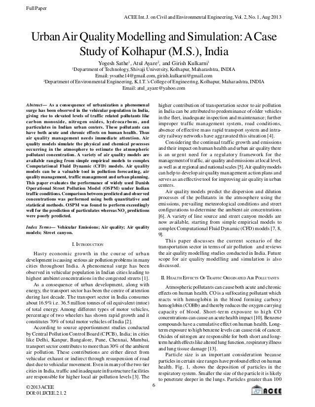 Full Paper ACEE Int. J. on Civil and Environmental Engineering, Vol. 2, No. 1,Aug 2013 ©2013ACEE DOI:01.IJCEE.2.1.2 UrbanA...