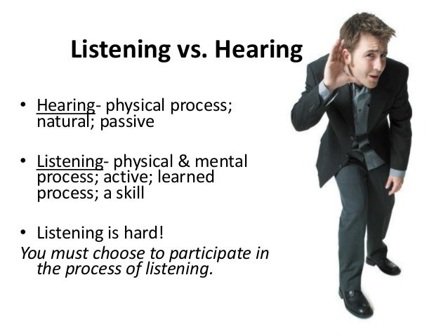 Facts about Listening • Listening is our primary communication activity. • Our listening habits are not the result of trai...