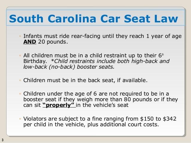 south carolina child safety seat laws. Black Bedroom Furniture Sets. Home Design Ideas
