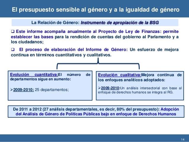 14  Este informe acompaña anualmente al Proyecto de Ley de Finanzas: permite establecer las bases para la rendición de cu...