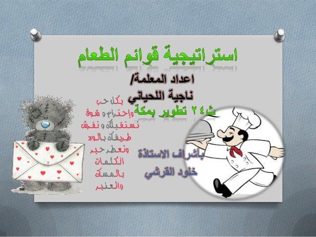 المعلمة اعداد/ ًاللحٌان ناجٌة االستاذة بأشراف ًالقرش خلود