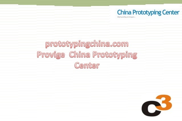 Established in 2005 China prototype Center is set up by industrial design engineers with the aim to deliver prototypes and...