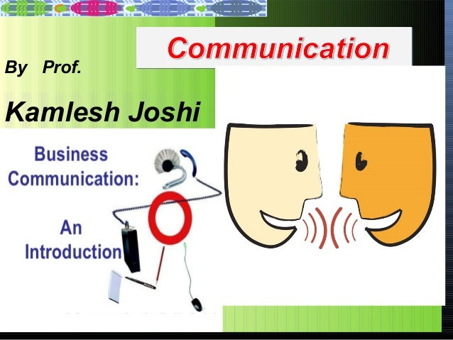 By Prof.  Kamlesh Joshi