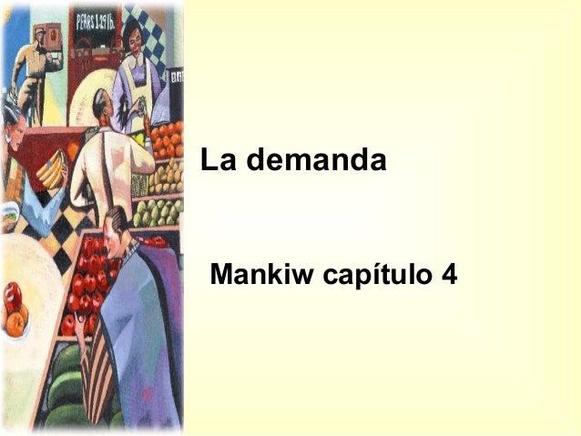 La demanda Mankiw capítulo 4
