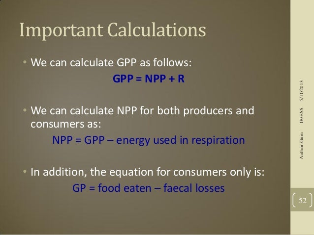how to calculate npp