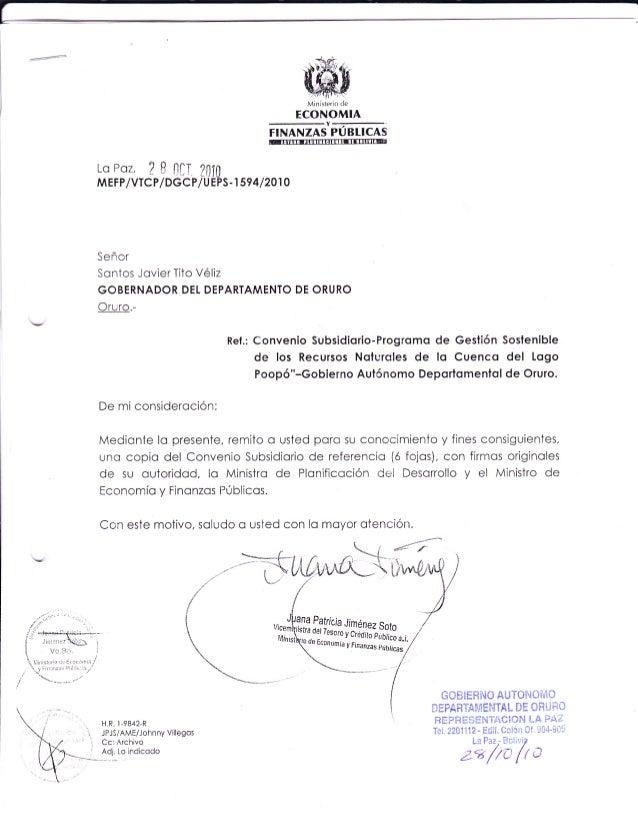 convenio subsidiario
