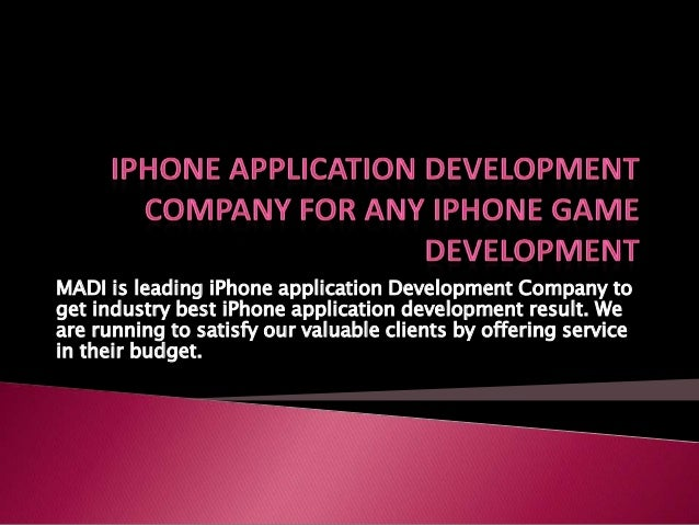 MADI is leading iPhone application Development Company to get industry best iPhone application development result. We are ...