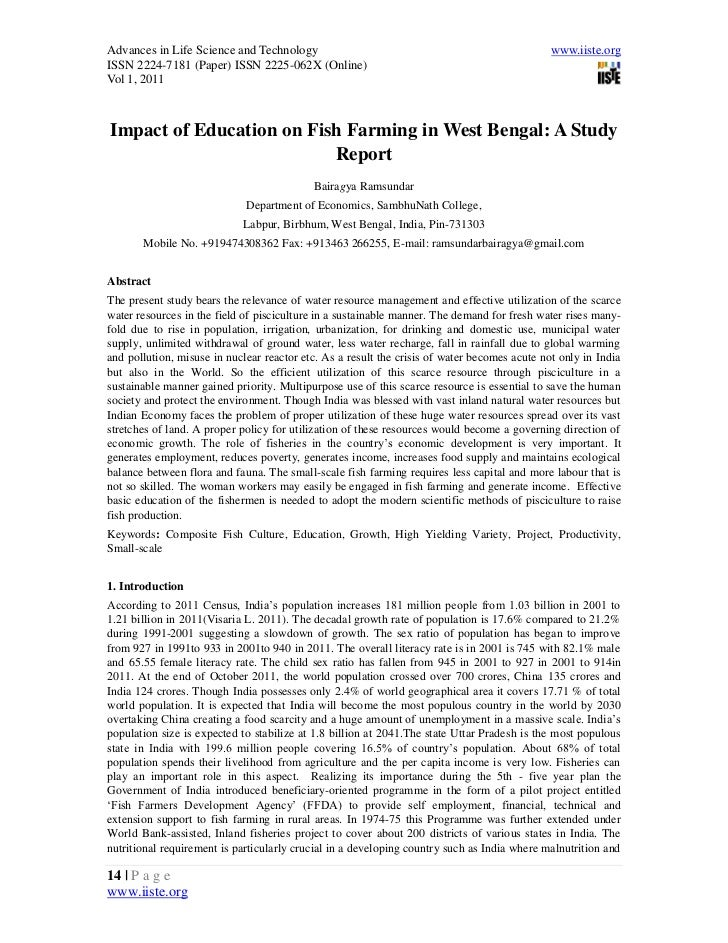2 [14 24]impact of education on fish farming in west bengal