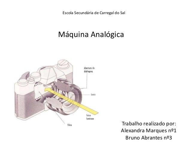 Escola Secundária de Carregal do Sal  Máquina Analógica  Trabalho realizado por: Alexandra Marques nº1 Bruno Abrantes nº3
