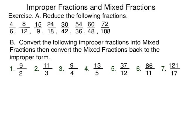 simplest form 36/48  7.7 improper fractions and mixed numbers w