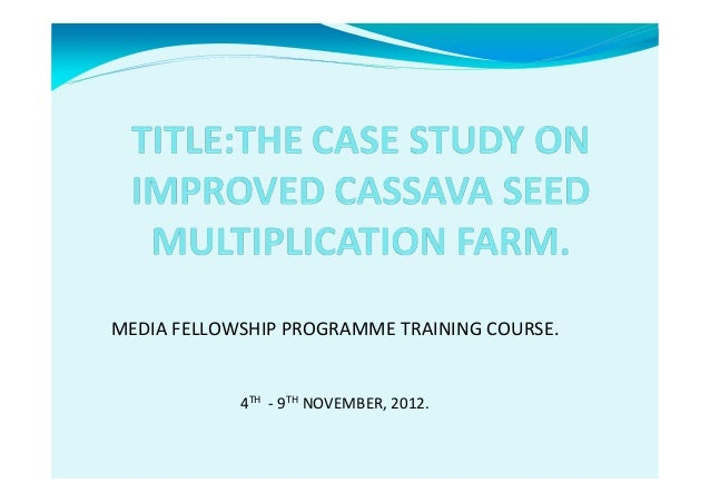 MEDIA FELLOWSHIP PROGRAMME TRAINING COURSE.  4TH - 9TH NOVEMBER, 2012.