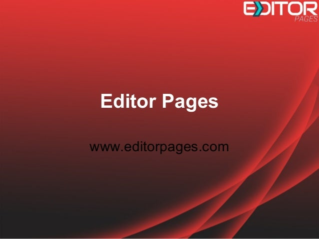 Editor Pages www.editorpages.com