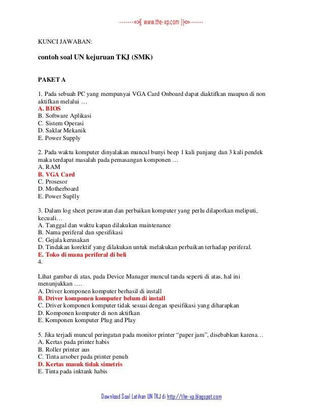 Contoh Soal Bahasa Indonesia Kelas Xi Smk Contoh Soal Un Smk Teknik 2014 Contoh Soal Un Kejuruan