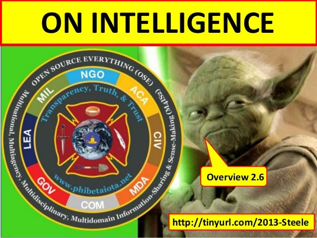 ON INTELLIGENCE  Overview 2.6  http://tinyurl.com/2013-Steele