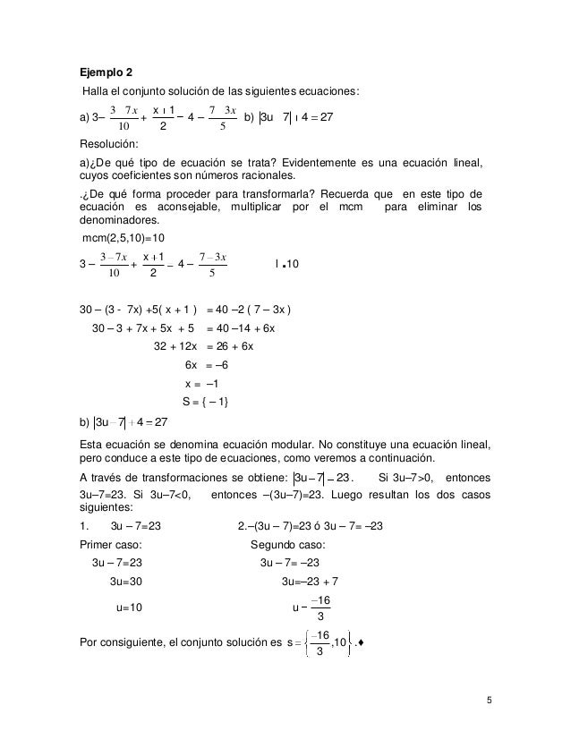 2.3 ecuaciones,funciones e inecuaciones lineales (mayo 07)