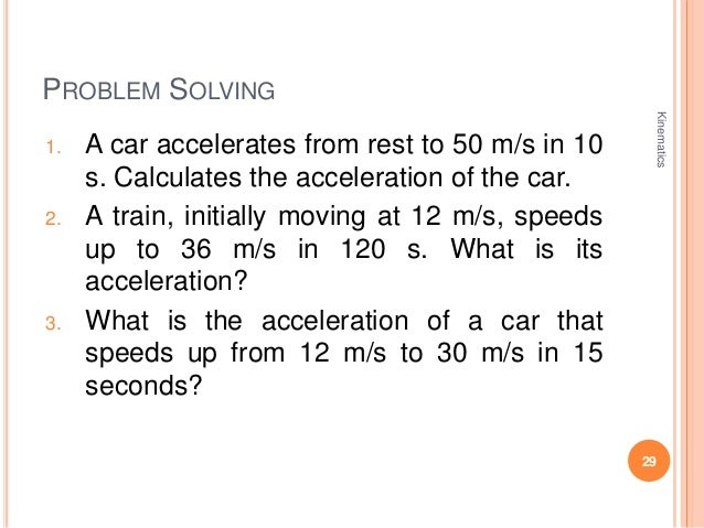 A Car Initially Traveling At  M S Accelerates