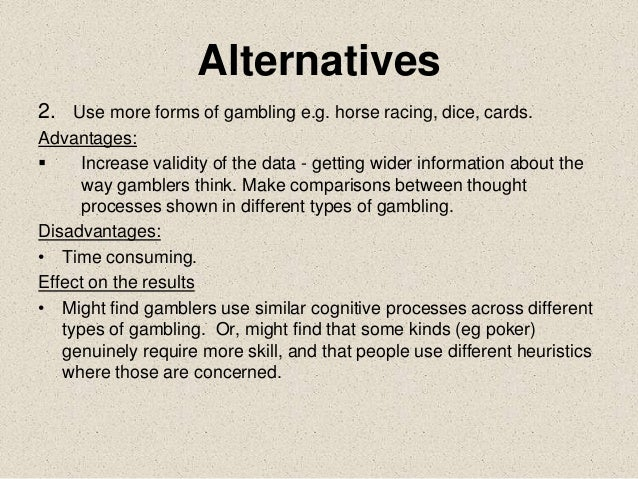 Griffiths study gambling facts and gambling