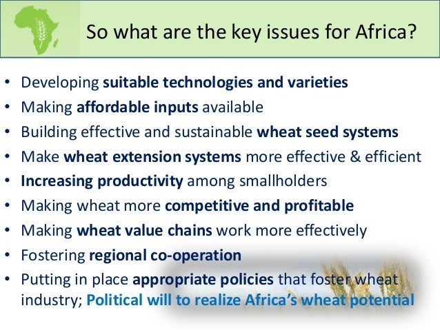 Wheat for Africa