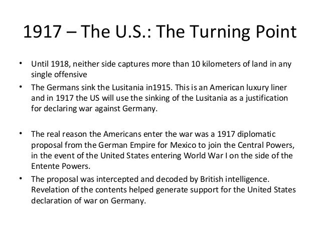 2.7 WW1 Battlesand Events, Russia and the USA