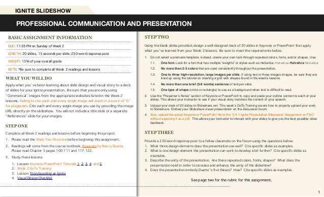 STEP TWO Using the blank slides provided, design a well-designed deck of 20 slides in Keynote or PowerPoint that apply wha...