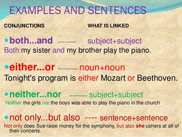 2. coordinating conjunctions