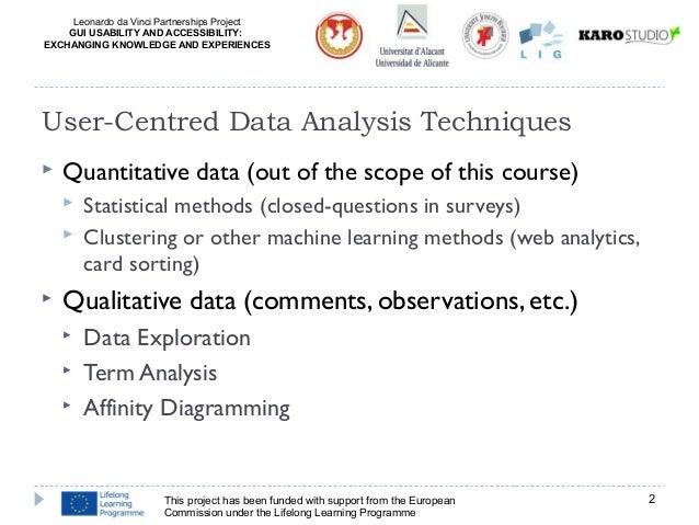 UCA: Data Analysis Techniques