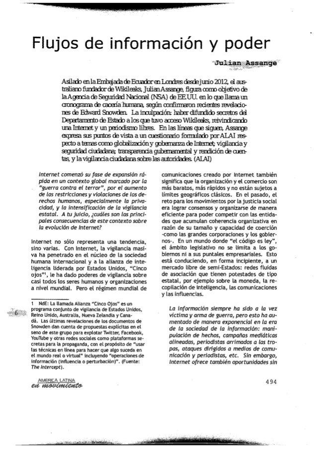 América Latina: Flujos de información y poder