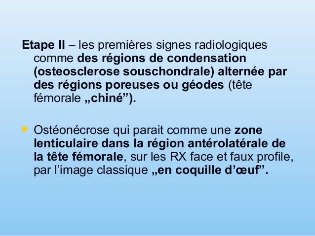  Steinberg propose une classification des lésions évolutives de la NATF utilisant tous les moyens d'imagerie: tomographie...