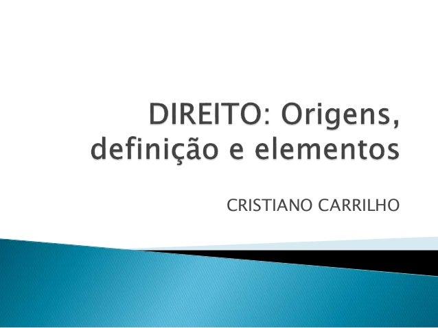 CRISTIANO CARRILHO