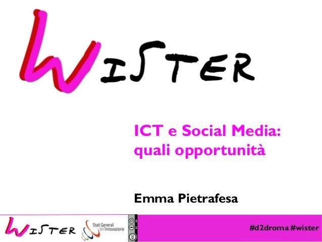 #d2droma #wister Foto di relax design, Flickr ICT e Social Media: quali opportunità Emma Pietrafesa