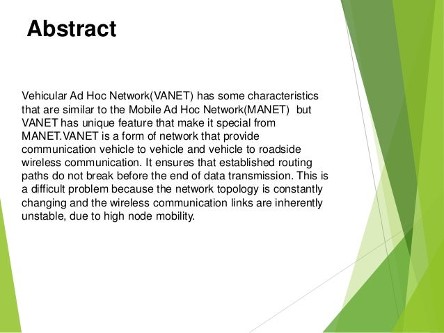 12-vehicular ad hoc networks (vanet) |authorstream.