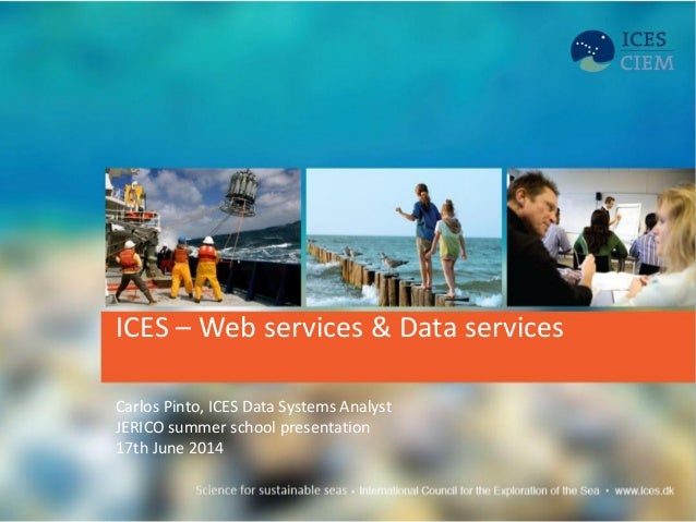 ICES – Web services & Data services Carlos Pinto, ICES Data Systems Analyst JERICO summer school presentation 17th June 20...