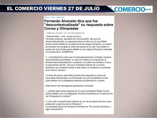 EL COMERCIO VIERNES 27 DE JULIO