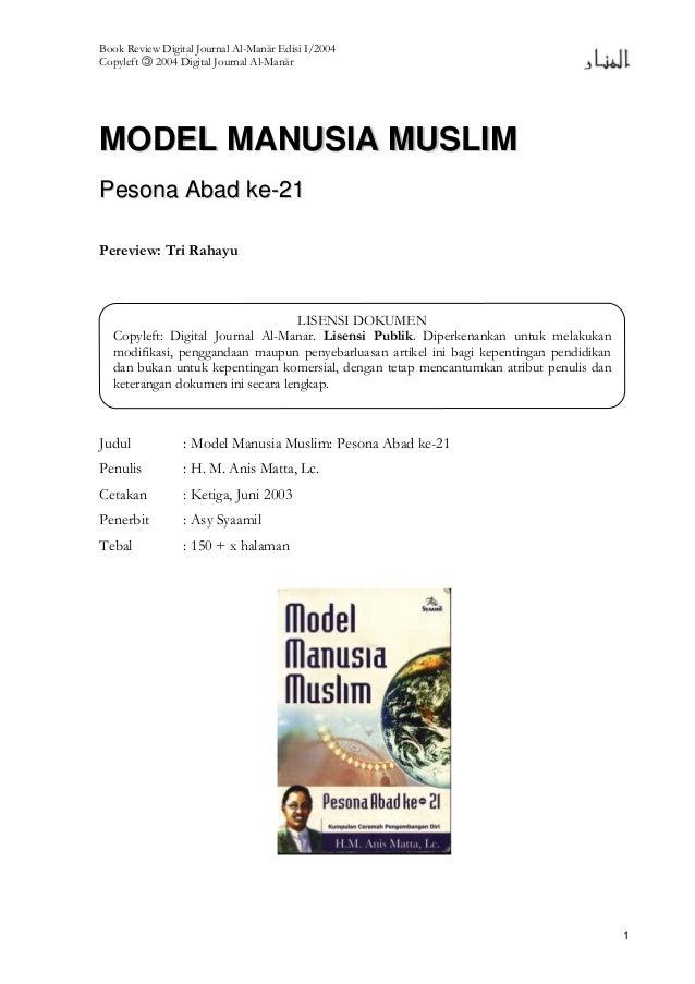 Book Review Digital Journal Al-Manär Edisi I/2004 Copyleft 2004 Digital Journal Al-Manär 1 MMOODDEELL MMAANNUUSSIIAA MMUUS...