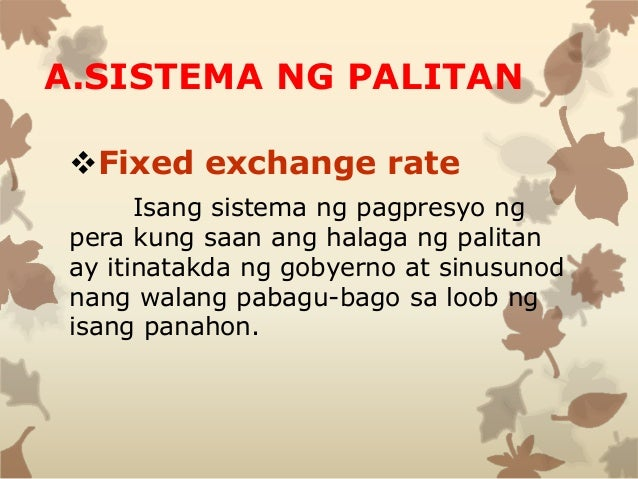 types of exchange rate