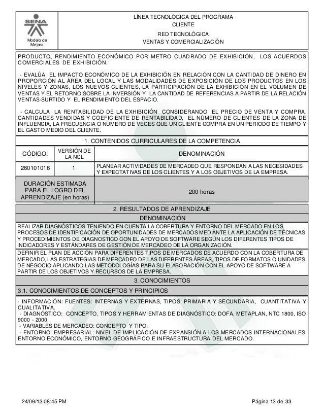 6aab83c1a ... 13. Modelo de Mejora LÍNEA TECNOLÓGICA DEL PROGRAMA CLIENTE RED  TECNOLÓGICA VENTAS Y COMERCIALIZACIÓN PRODUCTO ...