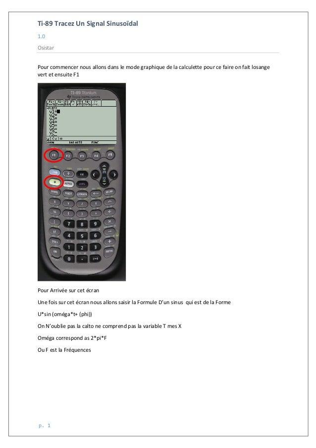Ti-‐89  Tracez  Un  Signal  Sinusoïdal   1.0   Osistar        p.  1   Pour  commencer  nous  ...
