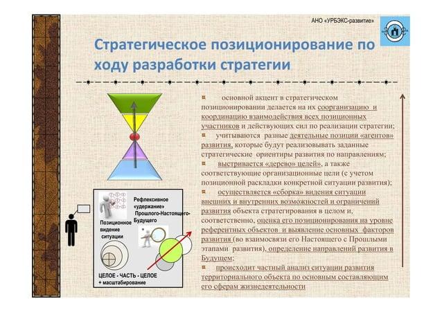 основной акцент в стратегическом позиционировании делается на их соорганизацию и координацию взаимодействия всех позиционн...