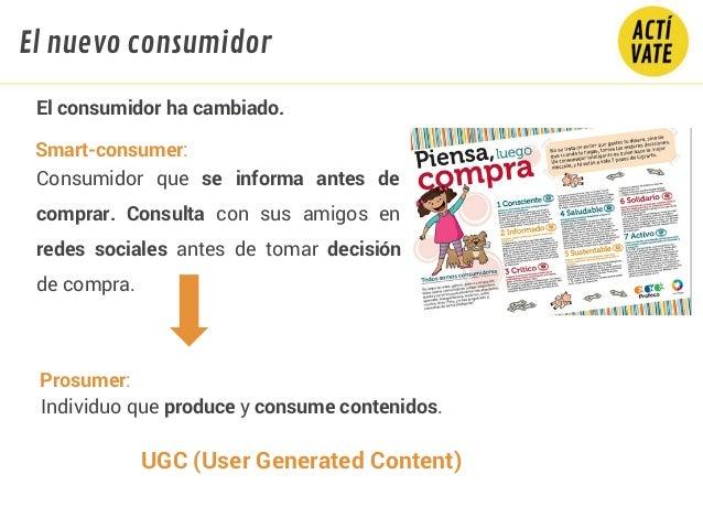 El consumidor ha cambiado. Consumidor que se informa antes de comprar. Consulta con sus amigos en redes sociales antes de ...