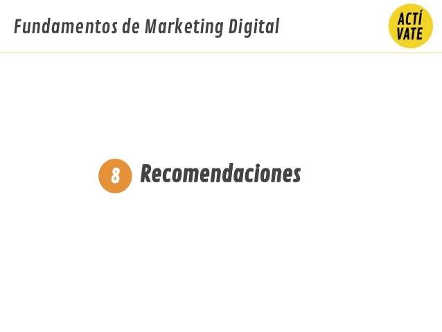 Fundamentos de Marketing Digital Recomendaciones8