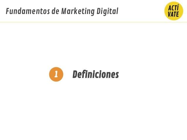 Definiciones1 Fundamentos de Marketing Digital