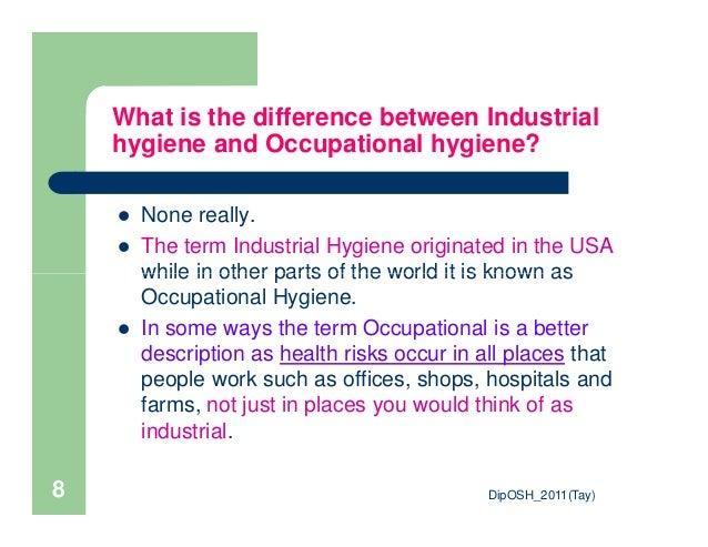 what is occupational hygiene pdf