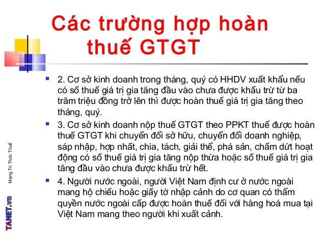 TANET - Thuế GTGT - Phần 4 Slide 3