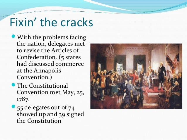 the initial problems facing america after the signing of the articles of confederation The articles of confederation are finally ratified after 16 the articles were signed by congress and sent to for the united states of america.