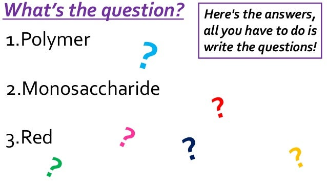 What's the question?  1.Polymer  2.Monosaccharide  3.Red  Here's the answers,  all you have to do is  write the questions!