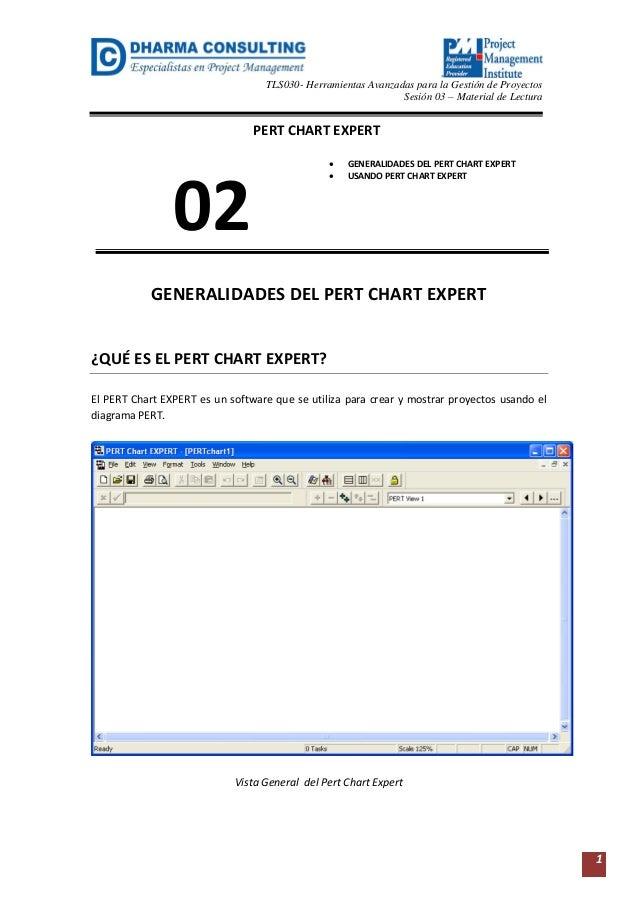 TLS030- Herramientas Avanzadas para la Gestión de Proyectos  Sesión 03 – Material de Lectura  1  GENERALIDADES DEL PERT CH...