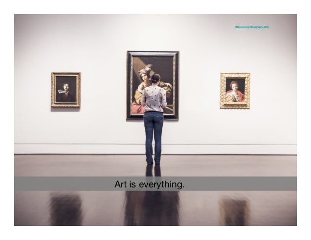 Art is everything.  http://www.gratisography.com/