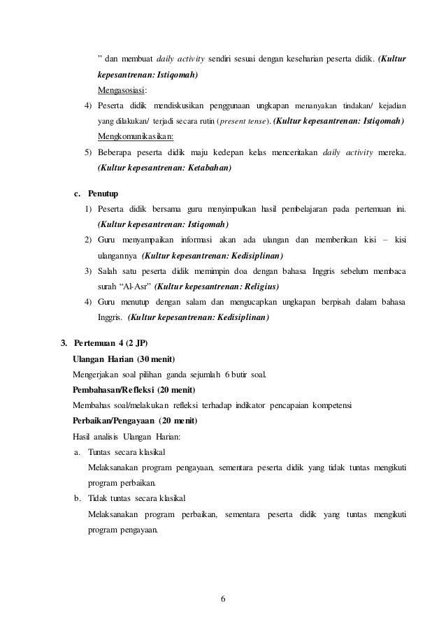 Rpp Bahasa Inggris Kelas 8 Kurikulum 2013 Terbaru Chapter 5