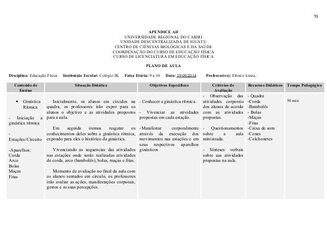 70 APENDICE AD UNIVERSIDADE REGIONAL DO CARIRI UNIDADE DESCENTRALIZADA DE IGUATU CENTRO DE CIÊNCIAS BIOLÓGICAS E DA SAÚDE ...