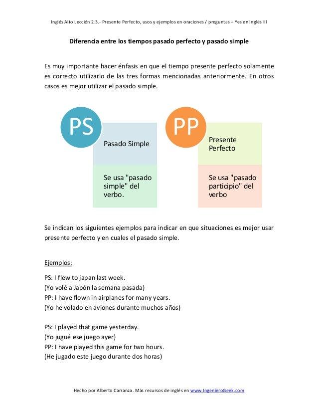 Presente perfecto en ingles pdf converter